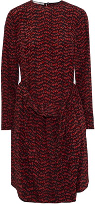 Stella McCartney All Is Love Ruffle-trimmed Printed Silk Crepe De Chine Dress