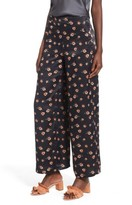 J.o.a. Women's Floral Wide Leg Pants