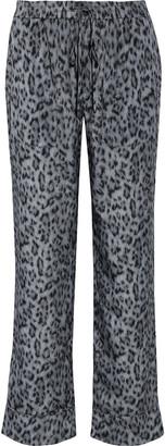 Joie Daltona Leopard-print Crepe De Chine Straight-leg Pants