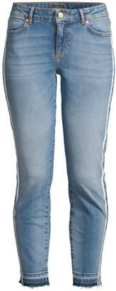Escada Sport Raw Edge Stripe Skinny Jeans
