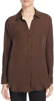 Vince Shirred-Back Silk Shirt