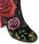 Miss Selfridge Darcie velvet embroidered boot