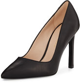 Pelle Moda Duran Leather Pointed-Toe Pump, Black