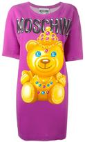 Moschino bear print T-shirt dress - women - Nylon/Rayon/other fibers - 36