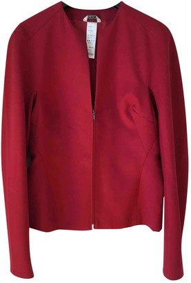 Gianni Versace Red Wool Jacket for Women Vintage