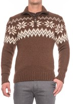 Dale of Norway Myking Masculine Sweater - Merino Wool, Zip Neck (For Men)