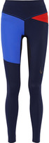 Lucas Hugh Rio color-block mesh-paneled stretch leggings