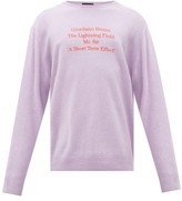 Raf Simons Writings Merino-wool Sweater - Mens - Purple