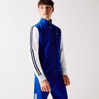 Lacoste Men's SPORT Two-Tone Technical Pique Zip Sweatshirt
