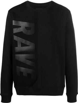 Les Hommes Rave mesh sweatshirt