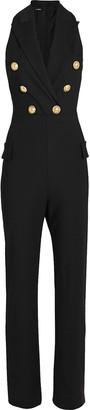 Balmain Sleeveless Double Breasted Wool Jumpsuit