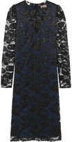 Lanvin Metallic Floral-lace Dress - Black