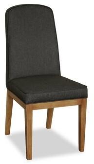 Latitude Run Naturita Upholstered Parsons Chair in Black (Set of 2