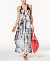 Raviya Tie-Dyed Lattice-Back Maxi Dress Cover-Up Women's Swimsuit