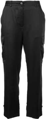 Nili Lotan Shine Effect Cargo Trousers
