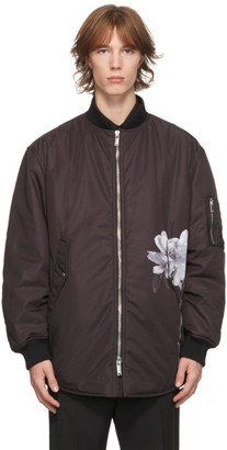 Valentino Black Inez and Vinoodh Edition Flowersity Bomber Jacket