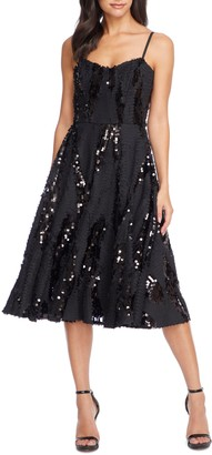 Dress the Population Flora Sequin Fit & Flare Dress