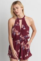 American Eagle Outfitters AE Hi-Neck Wrapped Romper