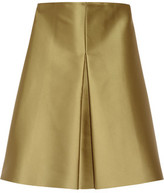 SOLACE London Lexi Pleated Bonded Satin Mini Dress