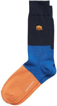 Banana Republic Elephant Embroidery Sock