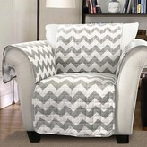 Nobrand No Brand Chevron Furniture Protector Gray/ White Armchair