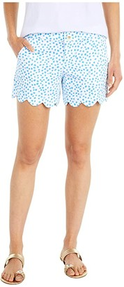 Lilly Pulitzer Buttercup Stretch Shorts (Zanzibar Blue Lillys Dot Inverse) Women's Shorts