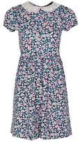 Select Fashion Fashion Womens Multi Crochet Collar Jersey Tea Dress - size 6