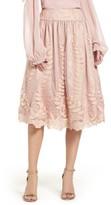 Eliza J Women's Lace Midi Skirt