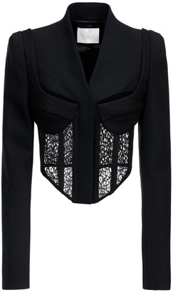 Dion Lee Tailored Wool Corset Jacket W/lace