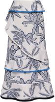 Roland Mouret Cotton Palm Vivian Skirt