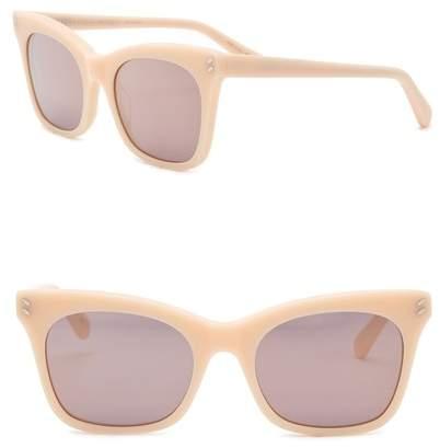 Stella McCartney 52mm Squared Cat Eye Sunglasses