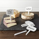 Crate & Barrel Ceramic Cheese Markers Set of Six