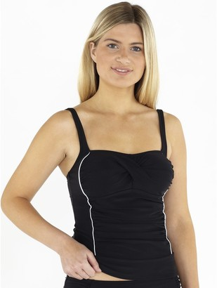 M&Co Beachcomber ruched front tankini top