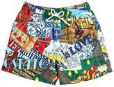 Dolce & Gabbana Cities Printed Nylon Swim Shorts
