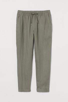H&M Linen Joggers - Green