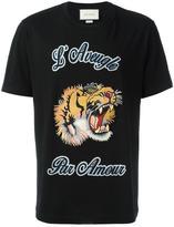 Gucci tiger appliqué T-shirt