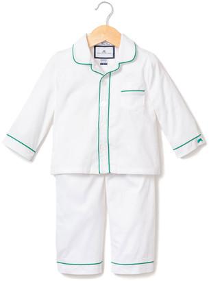 Petite Plume Contrast Piping Two-Piece Pajama Set, Size 6M-14
