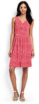 Lands' End Women's Fit and Flare Dress-Light Stone