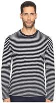 Vince Striped Long Sleeve Crew Neck T-Shirt Men's T Shirt