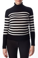 Pietro Brunelli Women's Siena Stripe Maternity Turtleneck