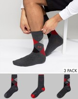 Pringle Waverley 3 Pack Gift Pack Socks Gray