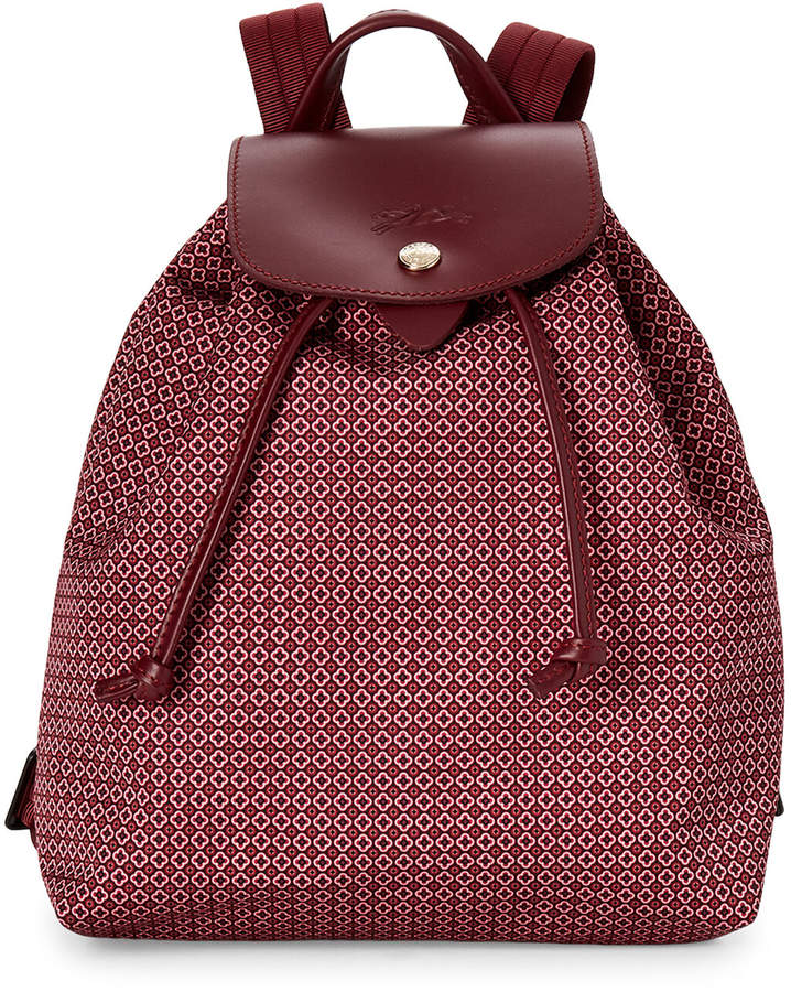 Longchamp Red Le Pliage Dandy Backpack