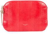 Nina Ricci high shine clutch bag - women - Watersnake Skin - One Size
