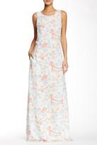Maje Print Maxi Dress