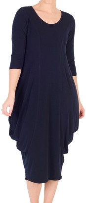 Chesca Drape Jersey Dress, Navy