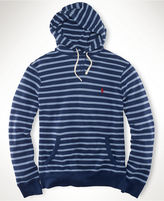 Polo Ralph Lauren Big and Tall Hoodie, Striped Jersey Pullover Hoodie