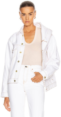 Y/Project Asymmetric Collar Jacket in White | FWRD