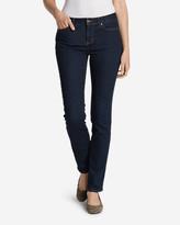 Eddie Bauer Women's StayShape Straight Leg Jeans - Curvy