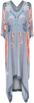 MENG Silver & Pink Silk Georgette Cover Dress