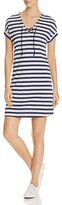 Three Dots Stripe Lace-Up Dress